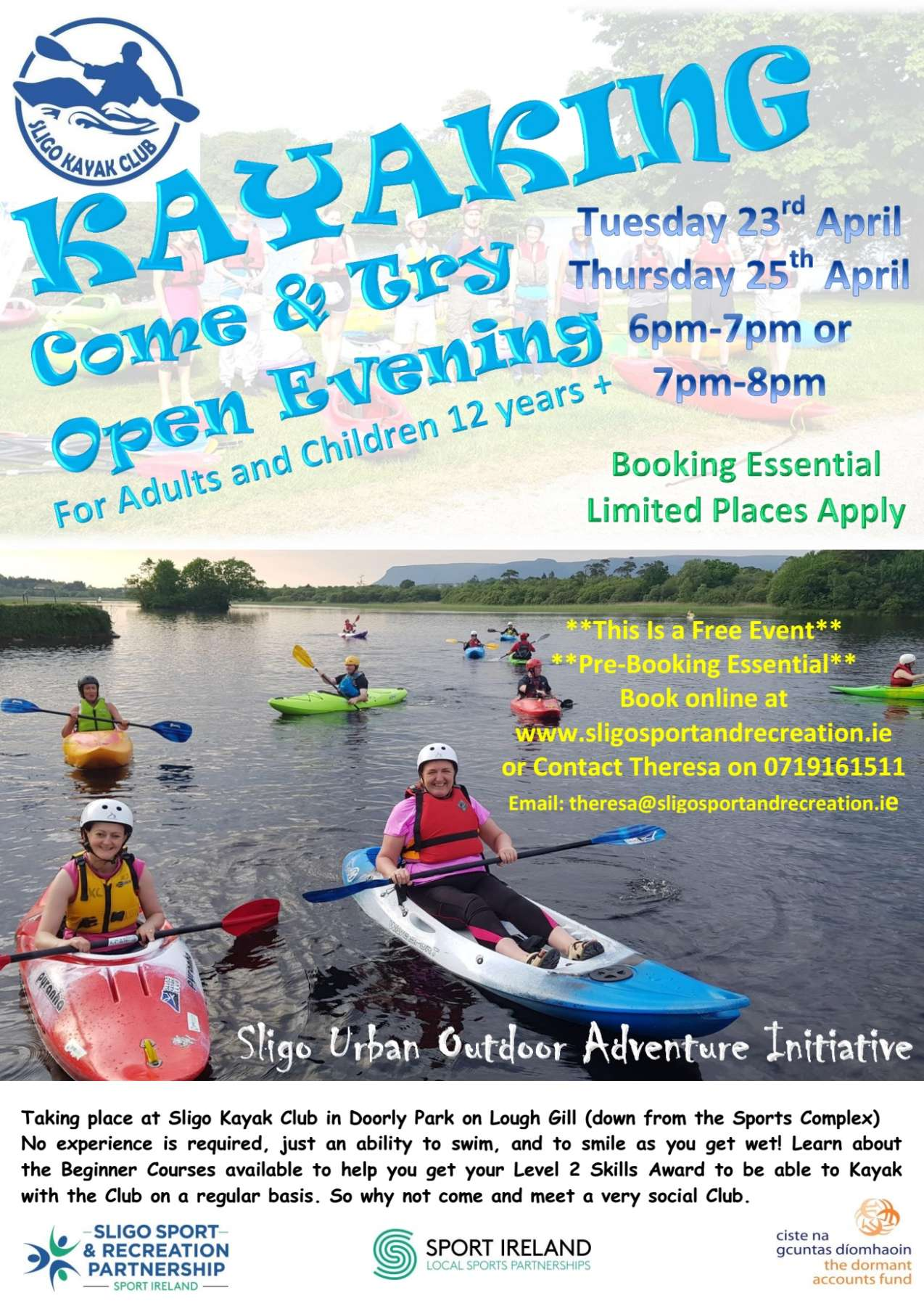 Sligo Kayak Club Open Evening