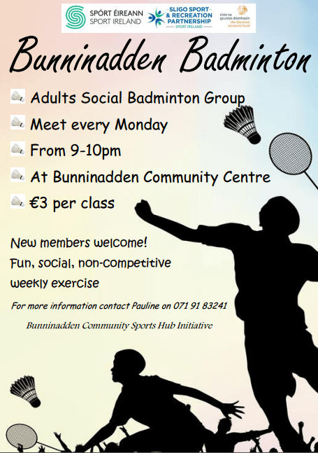 Badminton Bunninadden @ Bunninadden Sports & Leisure Centre