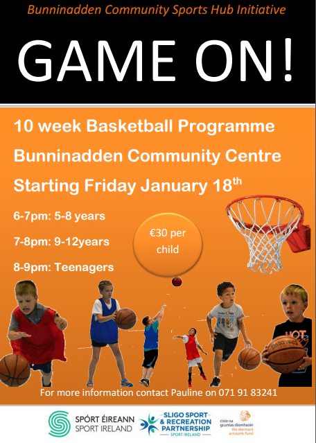 Youth Basketball Bunninadden @ Bunninadden Sports & Leisure Centre