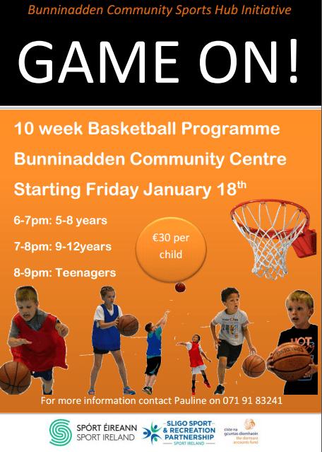 Youth Basketball Bunninadden @ Bunninadden Sports & Leisure Centre