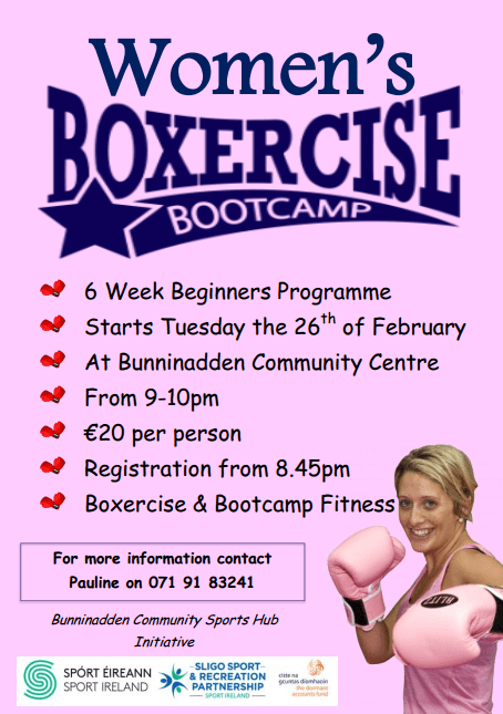Bunninadden Women's Boxercise Bootcamp @ Bunninadden Sports & Leisure Centre