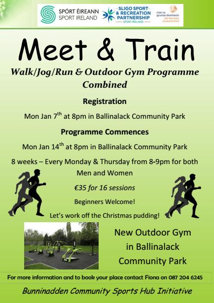 Ballinalack Meet & Train @ Ballinlack Community Park, Bunninadden