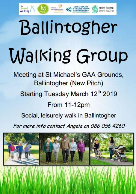 Ballintogher Walking Group @ St Micheal's GAA Grounds, Ballintogher