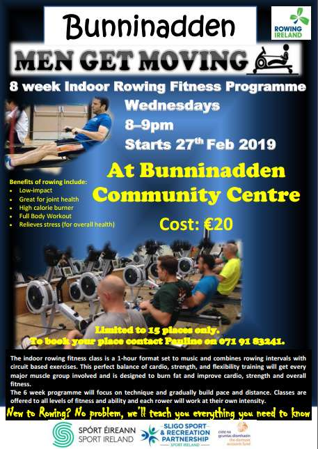 Bunninadden Men's Rowing @ Bunninadden Sports & Leisure Centre