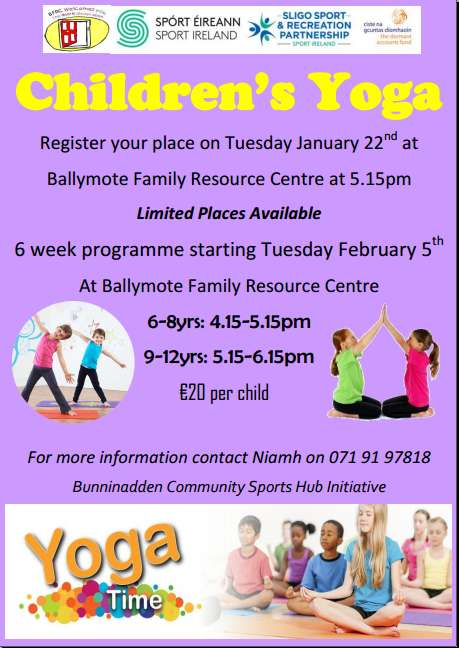 Ballymote Children's Yoga @ Ballymote Family Resource Centre